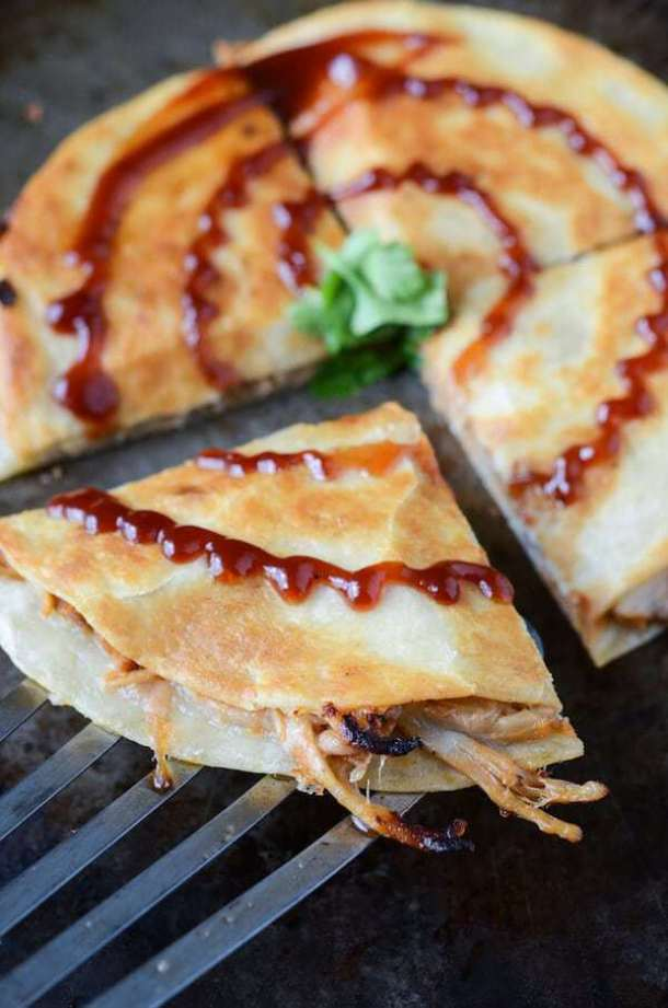 Pulled Pork and Caramelized Onion Quesadillas--Part of THe Best Quesadillas Recipes