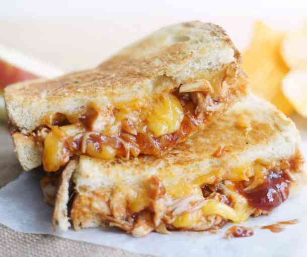 19 BBQ Chicken Grilled Cheese21+ Grilled Cheese Sandwiches that your family will go CRAZY for!