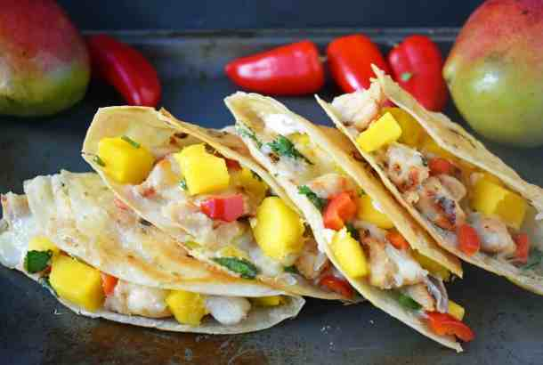 Chicken Mango Quesadillas--Part of THe Best Quesadillas Recipes