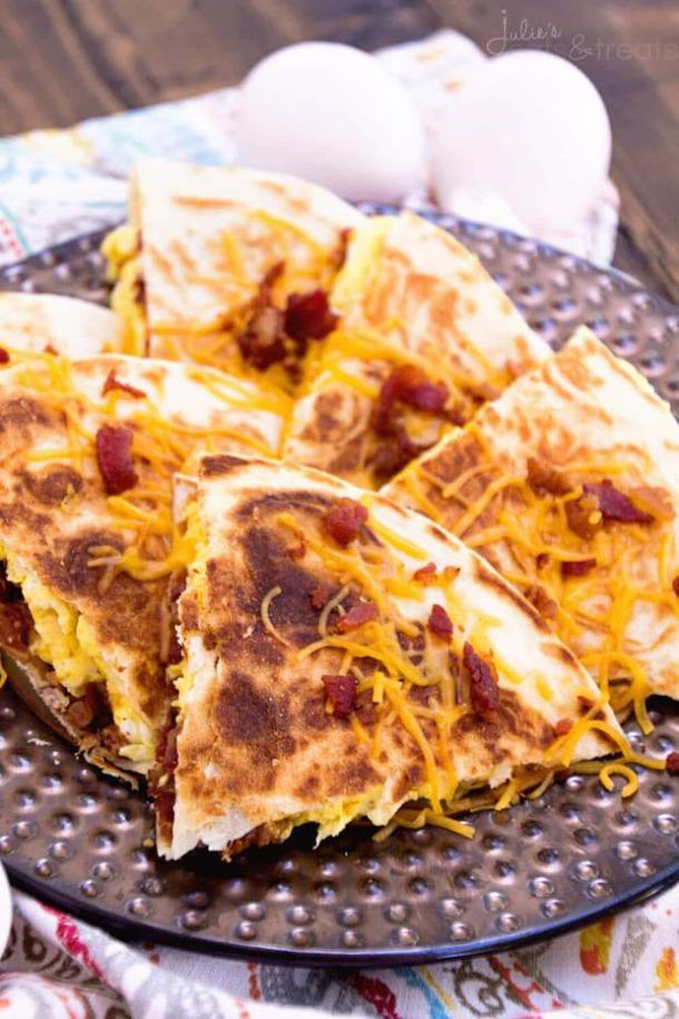 Bacon Egg and Cheese Quesadillas--Part of THe Best Quesadillas Recipes