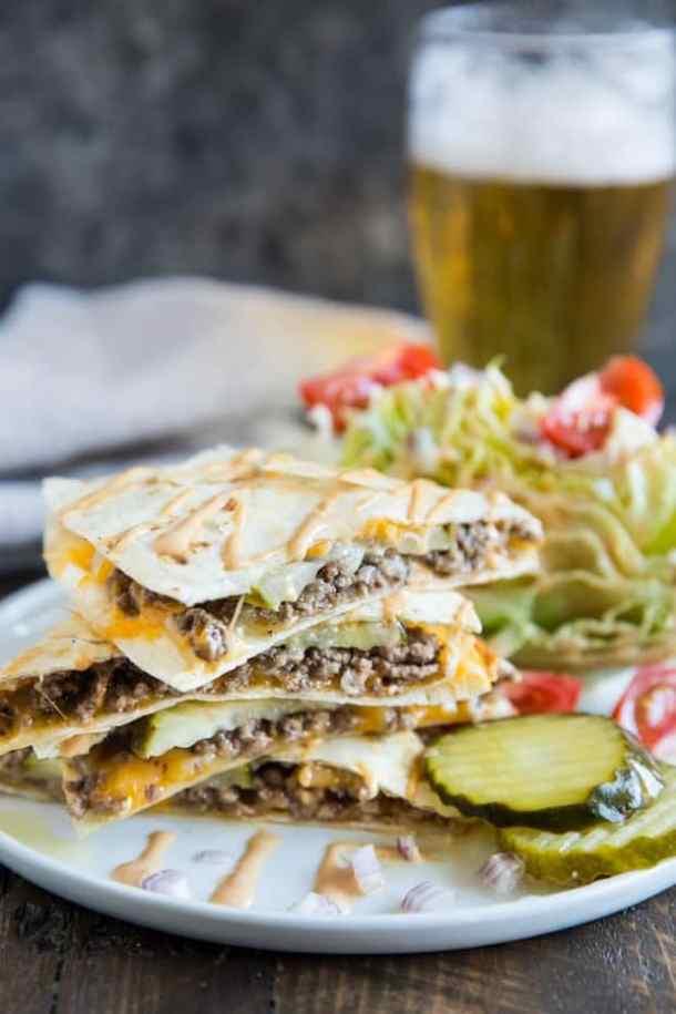 Cheeseburger Quesadillas--Part of THe Best Quesadillas Recipes