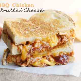 BBQ Chicken Grilled Cheese Sandwiches