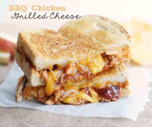 BBQ Chicken Grilled Cheese Sandwiches