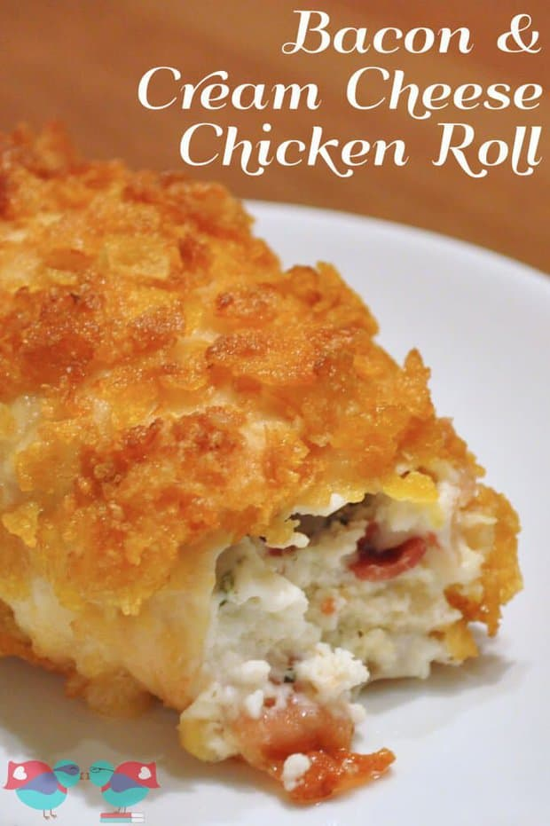 Cream Cheese and Bacon Chicken Rolls is an easy stuffed chicken recipe filled with two of my very favorite things