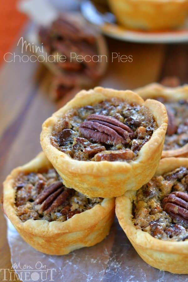 Mini Chocolate Pecan Pies