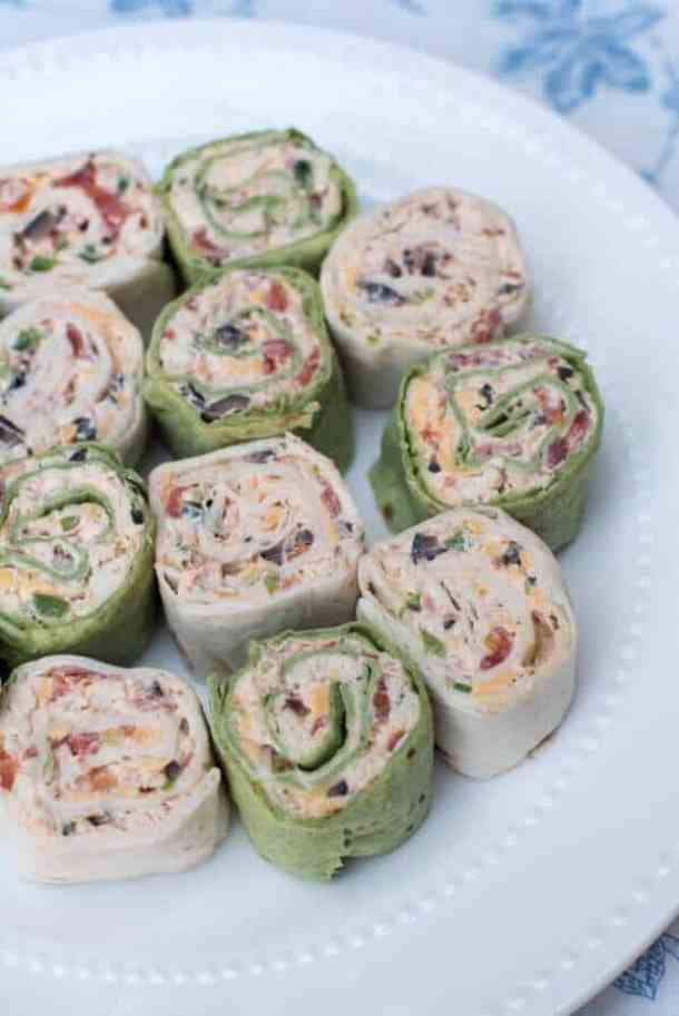 Southwest Chicken Tortilla Pinwheels -- part of The Best Pinwheel Recipes