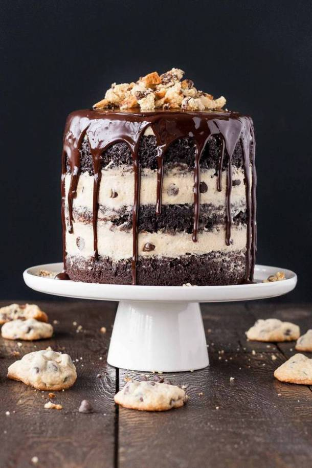 cookie dough cake 21 recipes to make if you re obsessed with cookie dough 3036