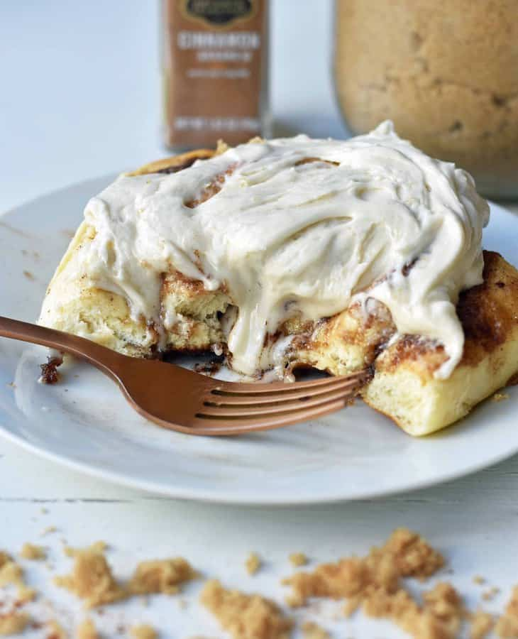 Hayley's Famous Cinnamon Rolls are famous for good reason. These warm, ooey, gooey, buttery brown sugar cinnamon rolls with cream cheese icing are literally the perfect cinnamon rolls.