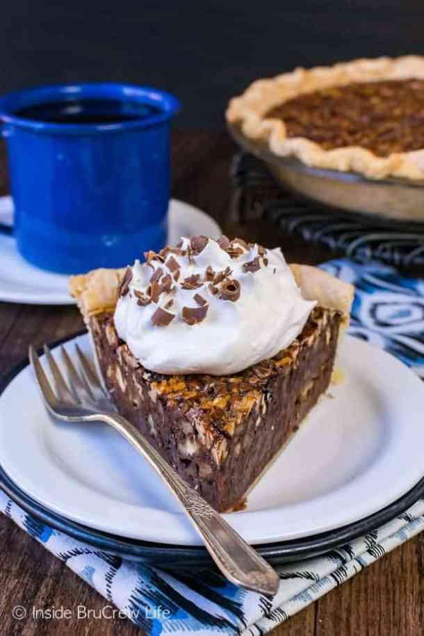 Chocolate Fudge Pecan Pie -- Part of The Best Hot Fudge Dessert Recipes