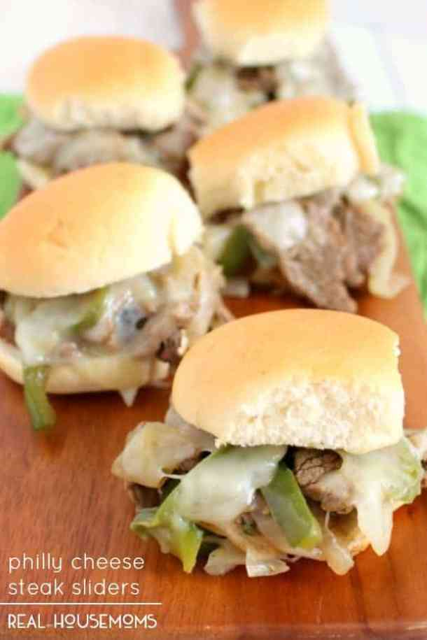 Philly Cheese Steak Sliders -- Part of The Best Philly Cheesesteak Recipes