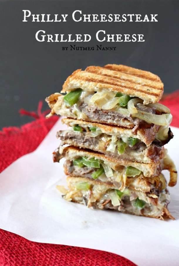 Philly Cheesesteak Grilled Cheese -- Part of The Best Philly Cheesesteak Recipes