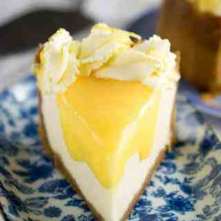 Instant Pot Lemon and Ginger Cheesecake
