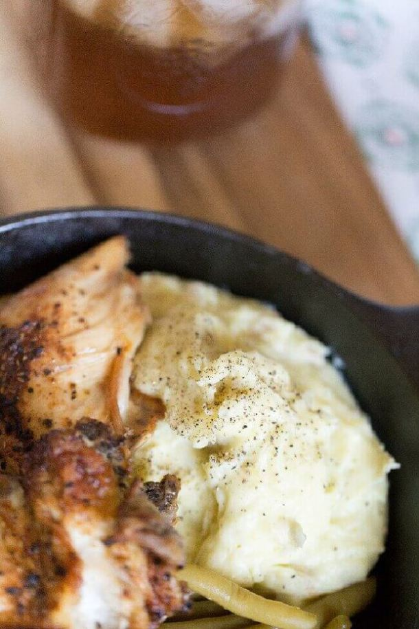 Chicken with Goat Cheese Mashed Potatoes