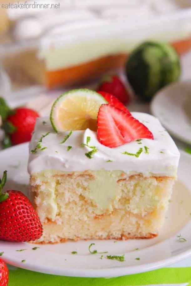 Key LimePoke Cake -- Part of Super Moist Poke Cake Recipes