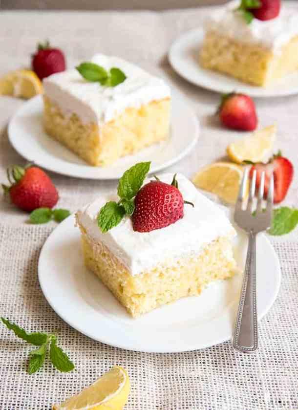 Lemon Poke Cake -- Part of Super Moist Poke Cake Recipes