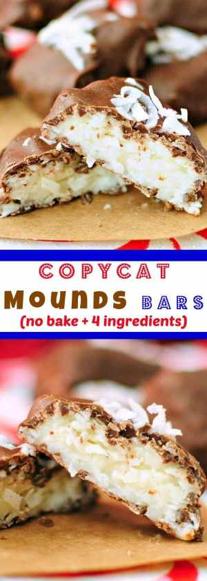 4 Ingredient Coconut Cream Bars