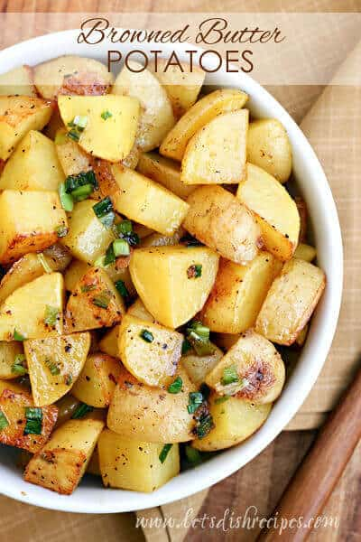 If there's one thing I can always count on when I'm making dinner plans, it's that a potato side dish will be a big hit. And these savory and slightly sweet Browned Butter Roasted Potatoes were no exception!