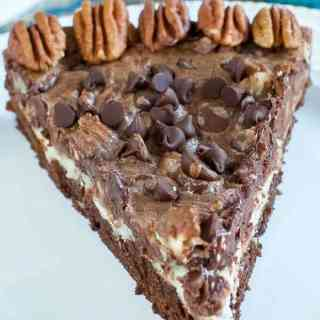 Chocolate Pecan Pie Brownie Cheesecake