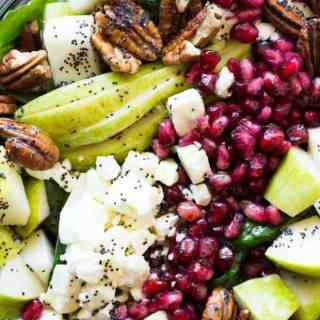 Pear and Pomegranate Salad with Orange Poppyseed Vinaigrette