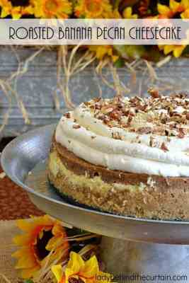 Roasted Banana Pecan Cheesecake