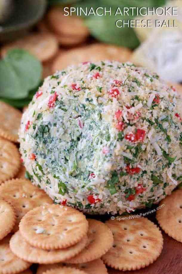 Spinach Artichoke Cheeseball