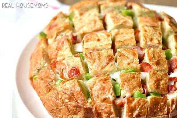 Pizza Pull Apart Bread--Part of The Best Pull Apart Bread Recipes
