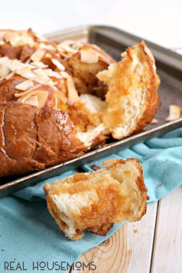 Pina Colada Pull Apart Bread--Part of The Best Pull Apart Bread Recipes