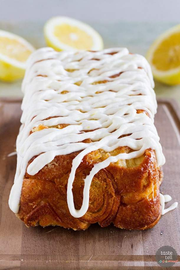 Lemon Roll Pull APart Bread--Part of The Best Pull Apart Bread Recipes