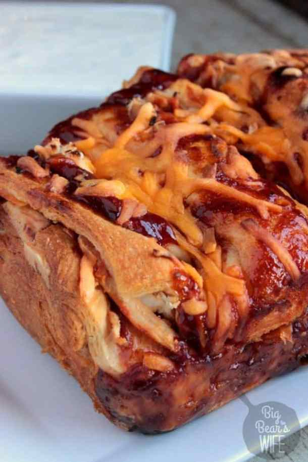 BBQ Chicken Pull Apart Bread--Part of The Best Pull Apart Bread Recipes