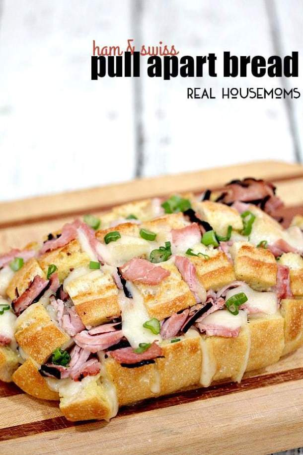 Ham and Swiss Pull Apart Bread--Part of The Best Pull Apart Bread Recipes