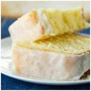 Lemon Pound Cake with Vanilla Bean Glaze