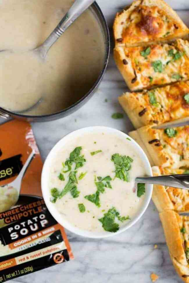 Easy Soup & Bread Meal
