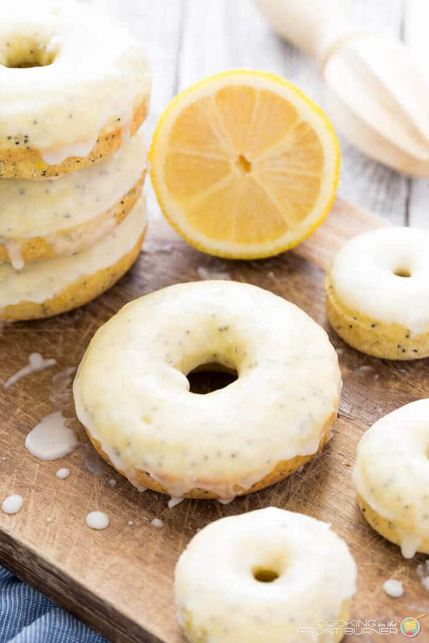 Lemon poppy seed baked donuts are just a nice treat to satisfy your sweet tooth without too many calories. Baked donuts are perfect for a weekend brunch or an afternoon snack with coffee or tea.