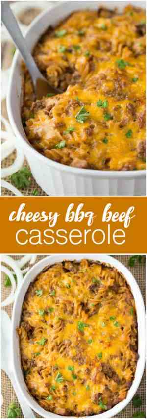 Cheesy BBQ Beef Casserole Recipe