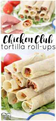 Chicken Club Tortilla Roll Ups
