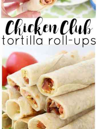 Chicken Club Tortilla Roll Ups
