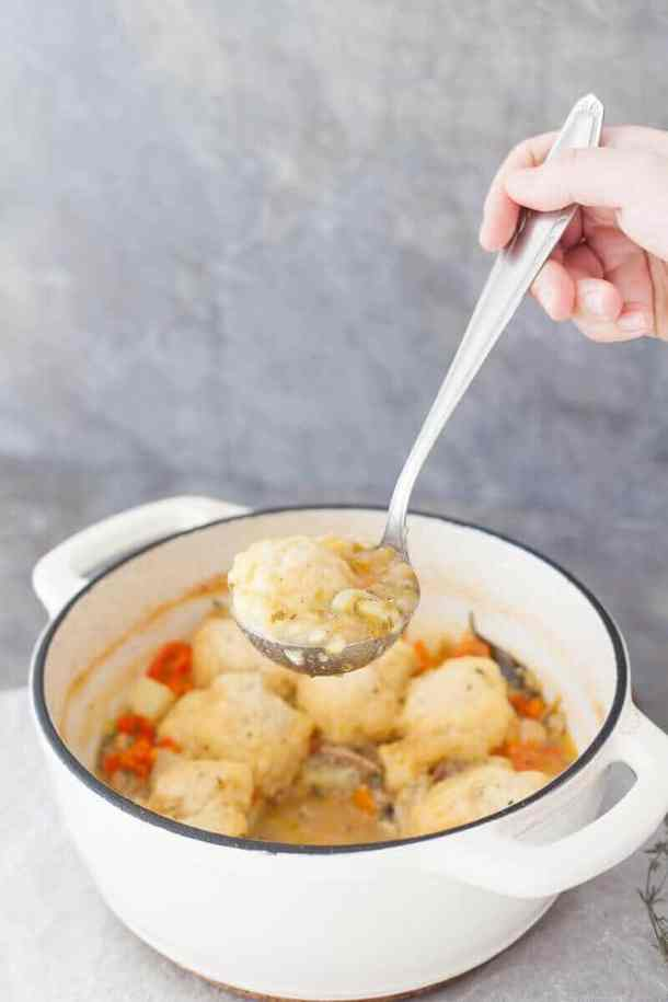 Chicken Stew with Fluffy Dumplings