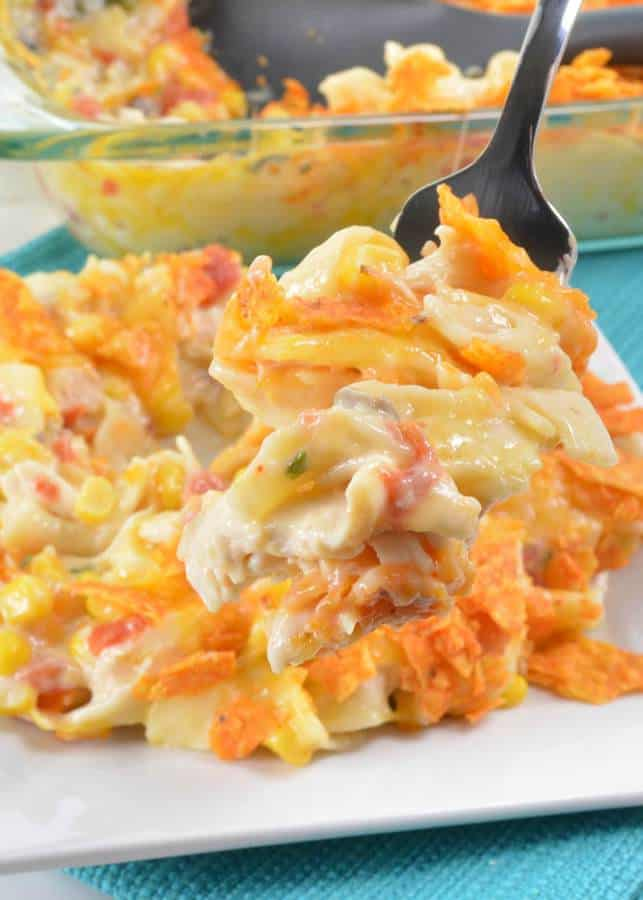 Doritos Cheesy Chicken Pasta Casserole