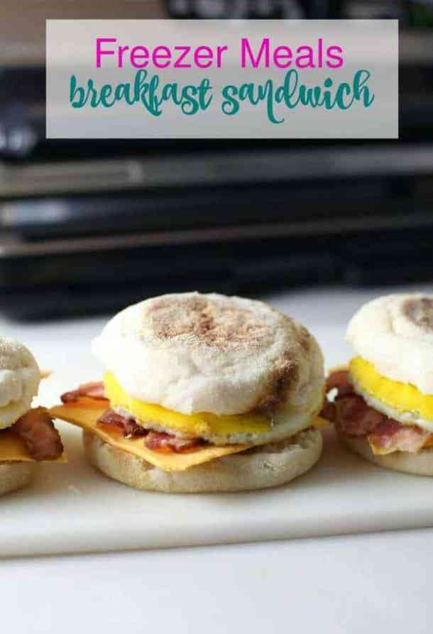 Freezer Breakfast Sandwiches -- part of Cheesy Breakfast Recipes PERFECT for Saturday Mornings