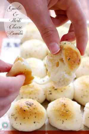 Garlic and Herb Cheese Bombs