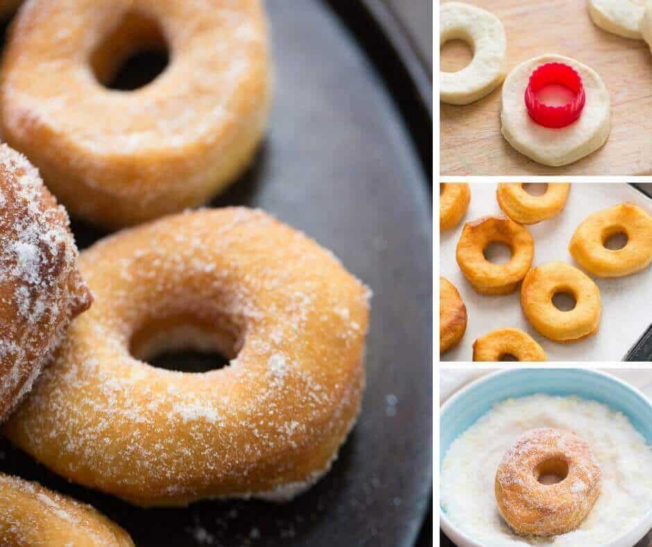 Lemon Sugar Biscuit Doughnuts