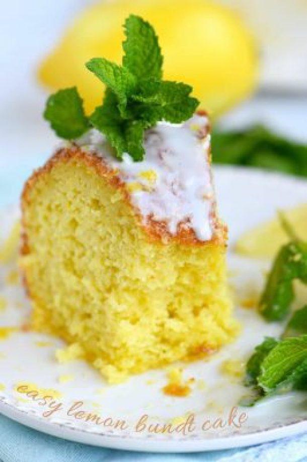 Easy Lemon Bundt Cake -- part of 14 OF THE BEST BUNDT CAKE RECIPES
