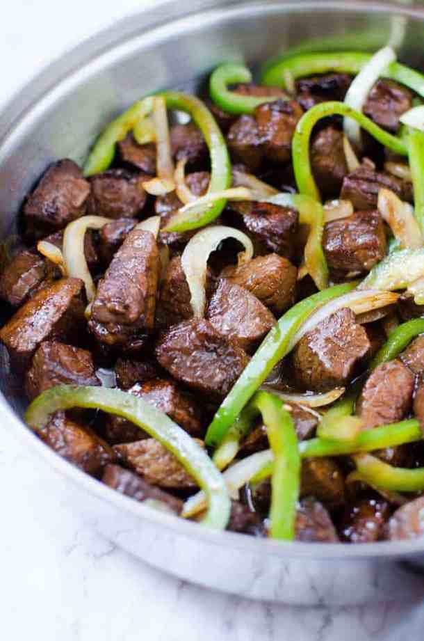 Asian Steak Peppers and Onions