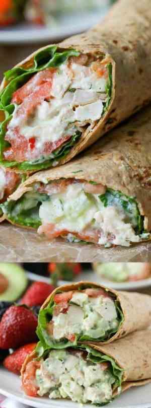 Avocado Ranch Chicken Salad Wrap Longpin