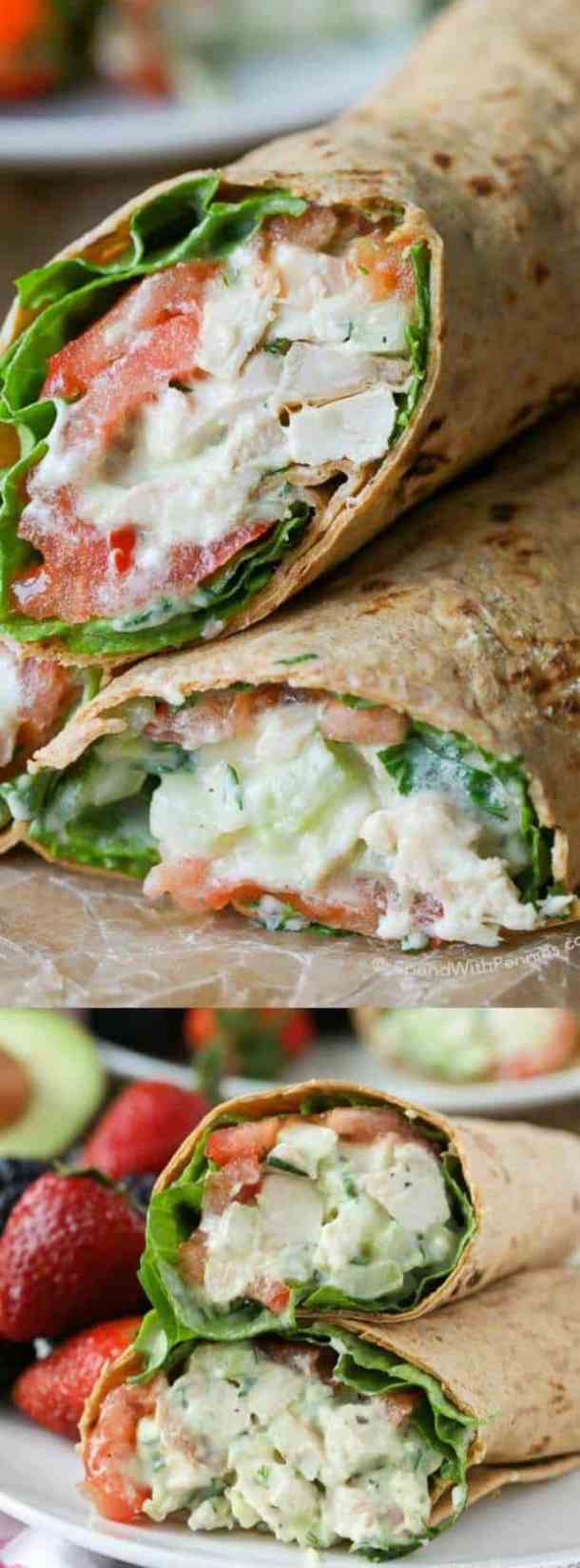 Avocado Ranch Chicken Salad Wrap
