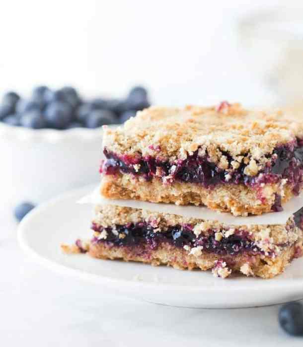 Blueberry Crunch Bars--Part of The Best Dessert Bars