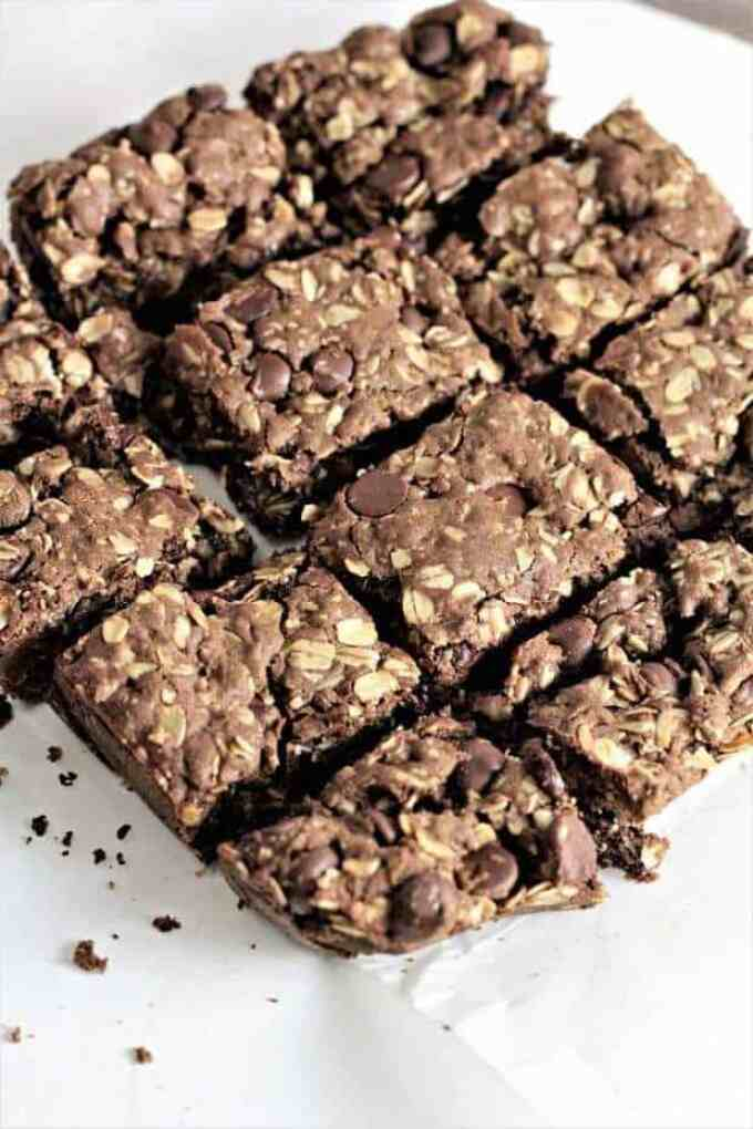 Chocolate Chocolate Chip Oatmeal Bars