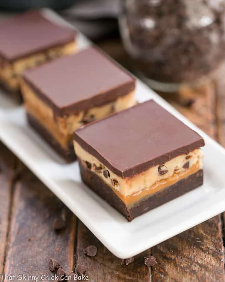 All the incredible flavors of one of our favorite Girl Scout Cookies in these spectacular Tagalong Cookie Bars!