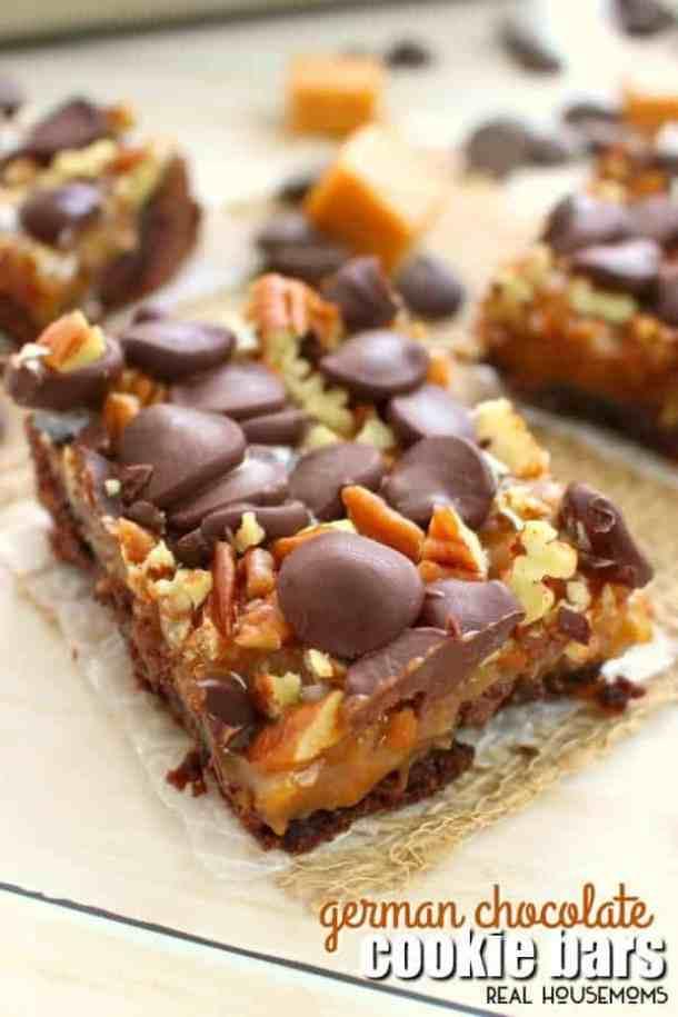 German Chocolate Cookie Bars--Part of The Best Dessert Bars