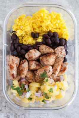 Jerk Chicken Meal Prep Bowls